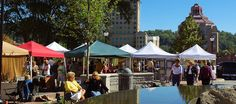 Spruce Street Market 2014  Saturdays, July 5-September 20 New for 2014! Stroll down historic Spruce Street near Pack Square, lined with 50 l...