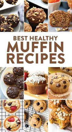 Muffins are the perfect go-to breakfast or snack. They are on-the-go, delicious, mini-cakes of fluffy goodness and can be made healthy to keep you feeling good all morning long. Check out our round-up of the best healthy muffin recipes on the internet! #muffins #snack #breakfast #recipes #healthyrecipes #healthy #brunch #mealprep #mealprepbreakfast #healthysnack #chocolatechip #blueberry #banana #recipes #recipe #muffin