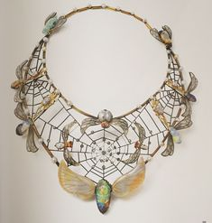 Necklace by Charles Boutet de Monvel, 1900. Gold, silver, opal, glass, ruby, pearl, diamond.