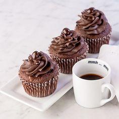 Double Chocolate Espresso Cupcakes – Gluten Free #cupcake #recipe