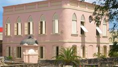 """The Jewish Synagogue in Bridgetown Barbados is among the buildings in the Barbados World Heritage Site """"Historic Bridgetown and Its Garrison"""". Take an interactive tour at http://www.barbados.org/historic-bridgetown-garrison-barbados-interactive.htm"""
