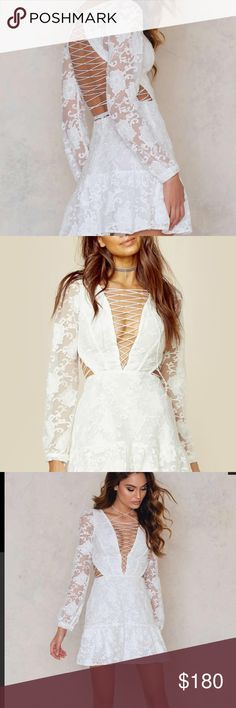 For love and Lemons White Jolene dress small The prettiest dress ever made. New with tags. Sold out everywhere. For Love and Lemons Dresses Mini
