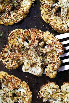 Roasted #Cauliflower #Steaks — Enjoy a true 5-star dinner with spot-on flavors. eatwell101.com