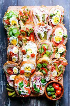 Czech tapas - My WordPress Website Tapas, Poppy Seed Kolache Recipe, Czech Goulash, Czech Recipes, Ethnic Recipes, Czech Desserts, Sour Cabbage, Open Faced Sandwich, Sandwiches