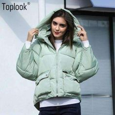 Casual pockets hooded solid long sleeve winter women coats