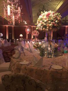 Floral Table arrangements for those formal celebrations Venue - Taj Palace, Delhi #WeddingReception #Classy http://bonvera.in/
