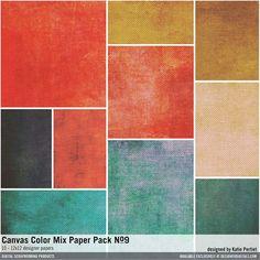 Canvas Color Mix Paper Pack No. 09- Katie Pertiet Papers- PP634541- DesignerDigitals