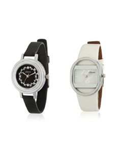 Oleva Ladies Leather Watch - Set Of 2 Choose between a 2 stylish leather watches with matching strap and dial color . Perfect for office, evening or casual wear Size & Fit Length : 8 inch Detail & Care Keep away from water Metal  https://play.google.com/store/apps/details?id=com.womensdeals.womensdeals