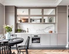 Mieszaknie w kamienicy - Średnia otwarta kuchnia jednorzędowa w aneksie, styl eklektyczny - zdjęcie od SAS Wnętrza i Kuchnie
