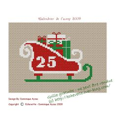 Cross Stitch Freebies, Cross Stitch Charts, Cross Stitch Patterns, Hama Beads Christmas, Christmas Cross, Christmas Ornaments, Le Point, Holidays And Events, Making Ideas