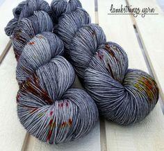Tralala Sock 4 ply Hand dyed yarn SW merino wool by Lambstrings Wool Yarn, Merino Wool, Knitting Socks, Knit Socks, Yarn For Sale, Types Of Yarn, Yarn Projects, Hand Dyed Yarn, Rug Hooking