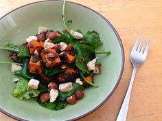 Sweet and Spicy Sweet Potato and Beluga Lentil Salad