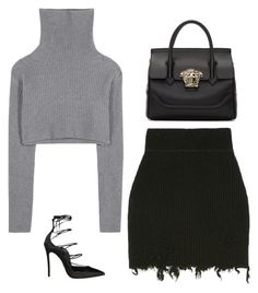 Sin título #589 by itgirlcarlota on Polyvore featuring polyvore fashion style Valentino Dsquared2 Versace clothing