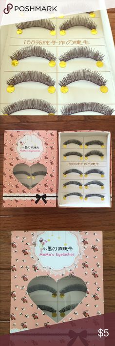 5 Pairs Black Eyelashes Brand New in Box ⭐️5 Pairs of Eyelashes ⭐️Brand new in box ⭐️PRICE FIRM ⭐️I ship within 1-2 business days ⭐️Please make sure you have the correct address before you purchase   5 pairs of eyelashes for $5 10 pairs of eyelashes for $8 15 pairs of eyelashes for $10 20 pairs of eyelashes for $12  25 pairs of eyelashes for $15 Makeup False Eyelashes