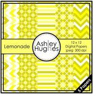 FREE Lemonade: 12x12 Digital Papers