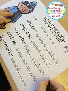PY 1 - Uke 3: Elevene i førsteklasse skriver sansedikt om vinteren. Flotte dikt og mye god tenking :)