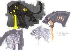 Jaguars from my dream concept by LiLaiRa