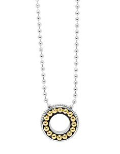 LAGOS Enso  Circle Pendant Necklace