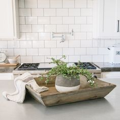 Square Reclaimed Wood Tray
