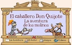 Start with autor- T/F kids mark their ideas and then check while listening/watching Don Quijote para niños ~ EduTIC - cannot be viewed/used on the iPad, but would work in the computer lab Spanish Classroom Activities, Classroom Themes, Activities For Kids, Ap Spanish, Spanish Culture, Spanish Teacher, Teaching Spanish, Caballero Andante, Teaching Culture