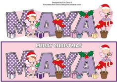 Christmas Fairies MAYA large dl on Craftsuprint by Designer Eva Cano
