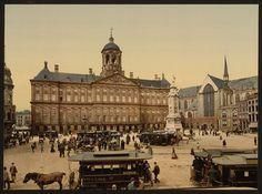 Dam square, palace, and church - Amsterdam