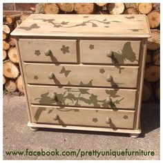 """""""#ascp #anniesloan #anniesloanchalkpaint #chalkpaint #distressed #distressedfurniture #darkwax #etsy #forsale #butterfly #flowers #handpainted #instahome #loveit #morethanpaint #countrygrey #olive #paintedfurniture #prettyuniquefurniture #refurbished #rustic #shabbychic #chestofdrawers #drawers #upcycled #vintage"""" Photo taken by @prettyuniquefurniture on Instagram, pinned via the InstaPin iOS App! http://www.instapinapp.com (05/16/2015)"""