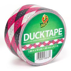 Argyle Duck Brand Duct Tape Roll on Etsy, $6.00