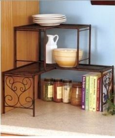 """Corners are another """"dead"""" spot in rooms. Shelving units, especially with various heights, can turn the wasted space into useful space."""