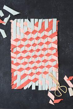 Tumbling Block Bias Tape Weaving