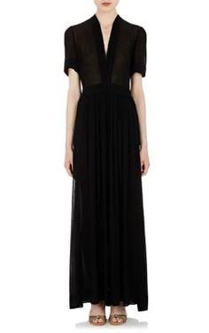 Isabel Marant Étoile Plissé Chiffon Kamil Maxi Dress at Barneys New York