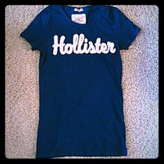 Dark Blue Hollister T-shirt Perfect condition! Barely worn! I love this color so much. Hollister Tops Tees - Short Sleeve