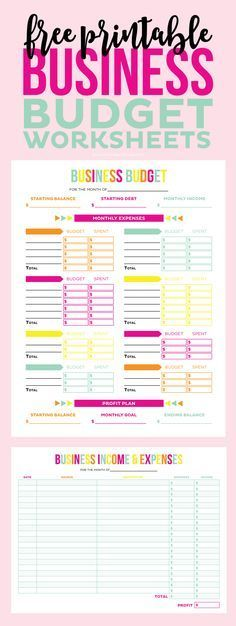 Free Printable Personal Budget Worksheet | Printable Budget ...