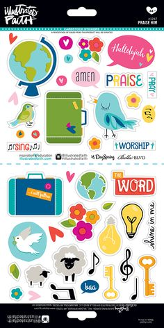 1247 Praise Him Stickers 6x12 Stickers