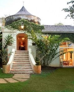 Mullins Mill  ( Saint Peter, Barbados )  The home's centerpiece is a 1690 sugar mill, which houses a fairy-tale like bedroom. #Jetsetter