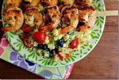 fresh corn and blueberry quinoa salad