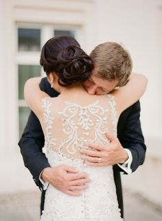 Illusion back pearl beaded wedding dress: http://www.stylemepretty.com/destination-weddings/2016/02/10/royal-purple-old-world-wedding-in-slovakia/ | Photography: Peter & Veronika - http://peterandveronika.com/language/en/
