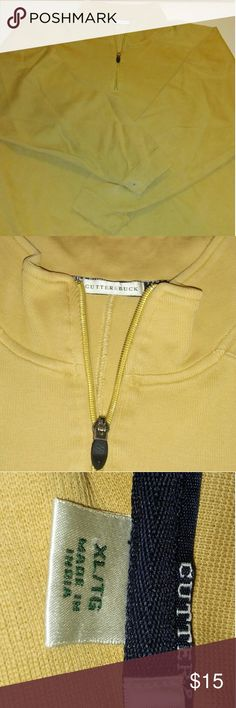 Cutter and Buck Yellow XL Half Zip sweater Overall good condition. Used. Has ink stain in sleeve. Cutter & Buck Sweaters Zip Up