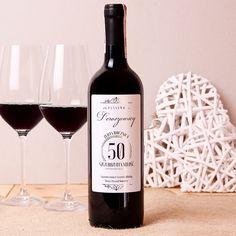 Personalizowane Czerwone Wino SZCZEROZŁOTE