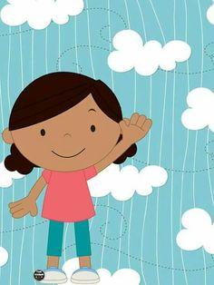 Murals For Kids, Art For Kids, Kindergarten Design, Preschool Songs, Class Decoration, Cute Clipart, Binder Covers, Cute Little Girls, Cartoon Kids