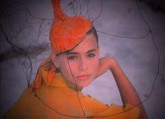 1980s hat by Fernando Garcia designs model by Nikki Taylor Miami Beach Florida