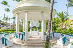 Majestic Colonial Garden Gazebo teal decor photo by Vaughn Barry Photography www.vaughnbarry.com - by far my most requested resort to shoot a wedding at!