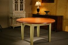 lodge kitchen design with round tables | Hand Made Round Harvest Style Kitchen Dining Table by Ecustomfinishes ...