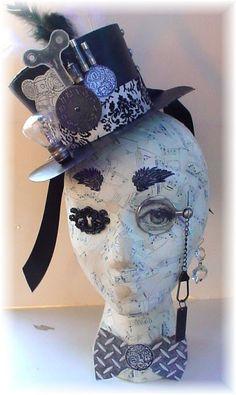 Steampunk Head, made with a styrofoam head form