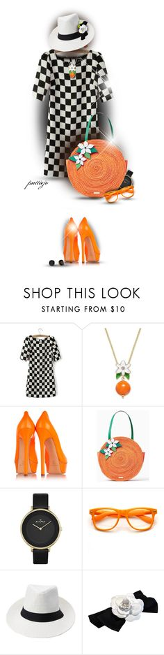 """Orange for Summer"" by rockreborn on Polyvore featuring JVL, Kate Spade, Casadei, Skagen, Retrò, Chanel, polyvorecommunity, polyvoreeditorial, blackstuds and orangepumps"