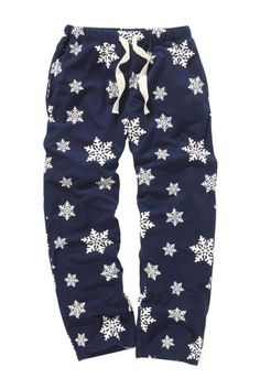 Navy Snowflake Soft Touch Check Bottoms from Next