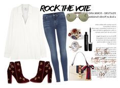 """""""IVOTED"""" by staydiva on Polyvore featuring moda, Vince, 7 For All Mankind, Aquazzura, Gucci, Ray-Ban, Chloe + Isabel, Monique Péan y Marc Jacobs"""