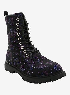 Metallic Ankle Boots, Lace Up Boots, Purple Boots, Pink Purple, Crazy Shoes, Me Too Shoes, Doc Martins Boots, Cute Emo Outfits, Plus Size Chic