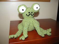frog Dinosaur Stuffed Animal, Toys, Crochet, Animals, Activity Toys, Animaux, Knit Crochet, Animal, Animales