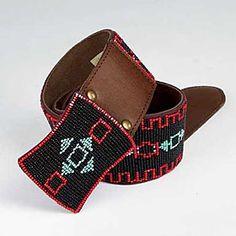 Tasha Polizzi Teepee Beaded Leather Belt